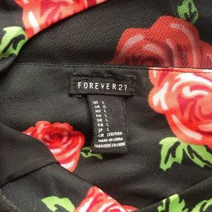 Forever 21 Dresses - Black Rose Dress